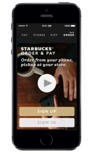Starbucks Mobile Order & Pay app Step 1