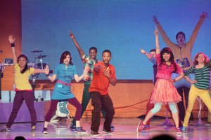 The Fresh Beat Band on one of their many tours. Hear more about what they're shows are like in this episde!