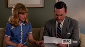 Stephanie Drake & Jon Hamm on Mad Men