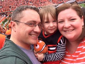 Family pic at Chan's first OSU game