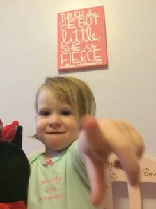 Though she be but little, she is fierce. True dat.