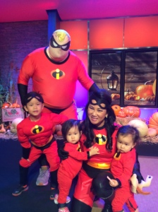 Halloween fun with Ginger, her kids, and hubby Mark Kono